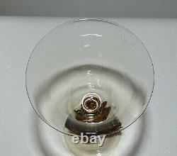 Salviati Sea Serpent 9 Wine Glass, Venetian Murano, applied gold, vintage, tint