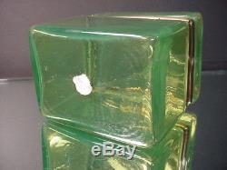Scarce Vintage Mandruzzato Lime Green Trinket Casket Box Murano Eames Era C 1950
