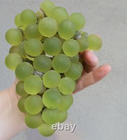 Shade Antique Murano grape beaded newel post lamp Czech vintage glow glass