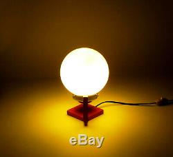 Space Age Lamp Mid Century Furniture Italian Vintage Murano Glass Yellow Orange