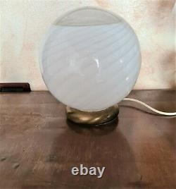 Sphere, globe, space lamp, vintage MURANO GLASSES, Made in Italy, Mid century