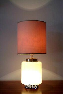 Stilnovo Table Lamp Opal Murano Glass 50s 60s Mid Century Italian Design Vintage