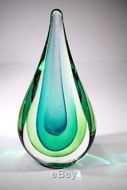 Stunning Murano Vintage Sommerso Tear Drop Vase