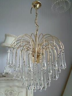Stunning large vintage Murano Paolo Venini chandelier glass drops