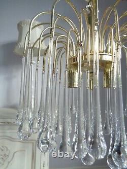 Stunning vintage chandelier Murano glass drops