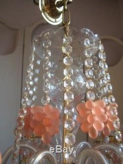Superb vintage italian murano glass chandelier