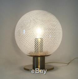 Table lamp lampada LA MURRINA Murano swirl filigrana reticello glass vintage70 U