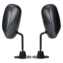 Universal 2 Pcs Carbon Fiber Vintage F1 Style Racing Car Left/Right Side Mirrors