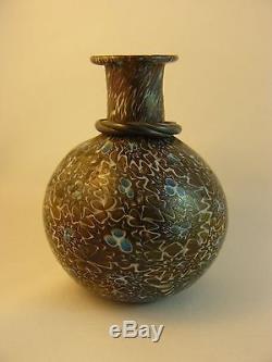 Unusual Vintage Murano Millefiori Italian Art Glass 3 Vase