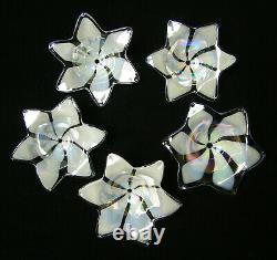 VENINI VINTAGE 60's ITALIAN MURANO ART GLASS FLOWERS CHANDELIER CEILING LIGHT