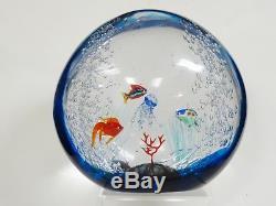 VINTAGE 70's ARS MURANO CAMMOZZO SIGNED MURANO AQUARIUM VENETIAN ART GLASS 10