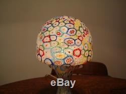 VINTAGE Ca 1930s-40s MILLEFIORI GLASS LAMP FRATELLI TOSO MURANO 13 1/2 INCH