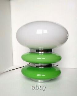 VINTAGE MAZZEGA MURANO GLASS LAMP 1960'sSPACE AGEMushroomCARLO NASON Green
