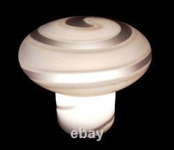 VINTAGE MURANO ART GLASS TABLE LAMP 1970s ITALY DESIGN VEART MUSHROOM STRIPES