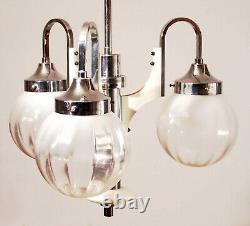 VINTAGE italian LAMP CHANDELIER Murano Glass DESIGN LIGHTING 1970 Space Age MCM