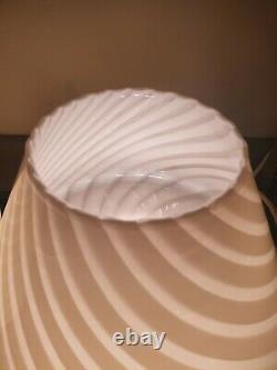 VIntage Formia Vetri di Murano mushroom swirl Italian Glass lamps STUNNING