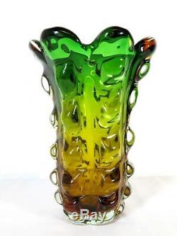 VTG Mid Century MURANO GLASS ART VASE Barovier Toso VENETIAN Flavio Poli Seguso