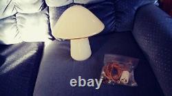 VTG Murano 12 Tall Glass Table Mushroom Lamp AS-IS