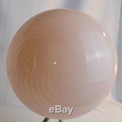 VTG Murano Pink Swirl Mushroom Glass Globe Lamp Venini Vetri