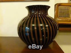 Vaso centrotavola in vetro di Murano anni 80 vintage design retrò glass art vase