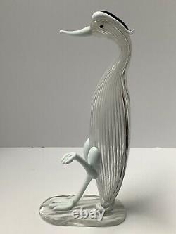 Venini Glass Bird Animale Aquatico Fulvio Banconi. Murano Venice Italy Vintage