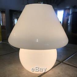 Vintage 10 Mid Century Modern Glass Mushroom Shaped LampVetri Muranoretro