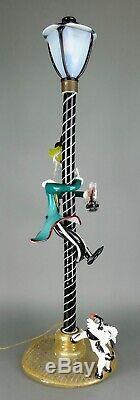 Vintage 1950s Italian Murano Art Glass Shriner Circus Clown Street Lamp 34