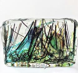 Vintage 1950s Italian Murano GLASS AQUARIUM Alfredo Barbini & Gino Cenedese