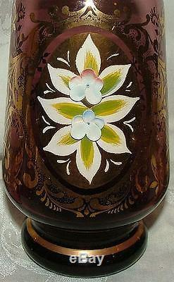 Vintage 1950s Murano Italy Venetian Glass Amethyst Purple Decanter 4 Tumblers