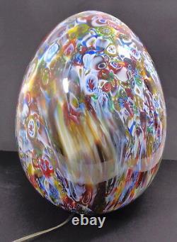 Vintage 1960's Huge Murano Glass Egg Shaped Table Lamp