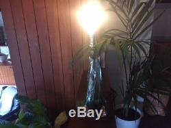 Vintage 1960s Murano Sommerso Twisted Lamp Base Signed Rewired and PAT Test