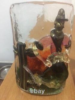 Vintage 4 Applique Murano glass Barbini modernariato