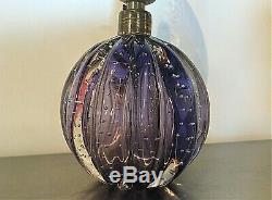 Vintage 50s MURANO Archimede SEGUSO BULLICANTE Purple Bubble Glass LAMP, Italy