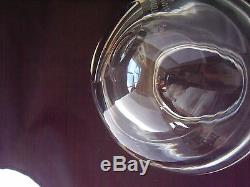 Vintage Alfredo Barbini Murano Off Center Clear Art Glass Vase Bowl signed 6