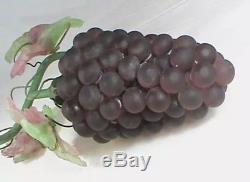 Vintage Art Nouveau Murano Czech Glass Grape Cluster Fruit Figural Chandelier P1