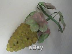 Vintage Art Nouveau Murano Czech Glass Grape Cluster Fruit Figural Chandelier Y1