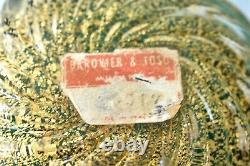 Vintage Barovier & Toso Coronato D'Oro LABEL Glass Ashtray Bowl Murano Italy