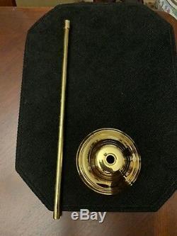 Vintage Brass Murano Glass Rod Mid Century Modern Chandelier Gaetano Sciolari 3L
