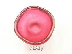 Vintage Carlo Scarpa Venini Corroso & Irridato 3.5 Iridescent Art Glass Bowls