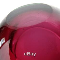 Vintage Cenedese Glas Schale, Geode Art Uranium Sommerso Glass Bowl Murano 1960s