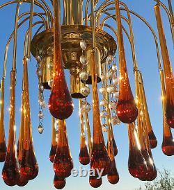 Vintage Chandelier Crystal Glass Angle MURANO glass
