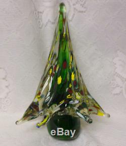 Vintage Decorative Giant Italian Murano Crystal Solid Art Glass Christmas Tree