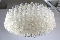 Vintage Doria Chandelier Murano Ice Glass Lamp Pyramid Shape 96 Tubes in 4 Rings