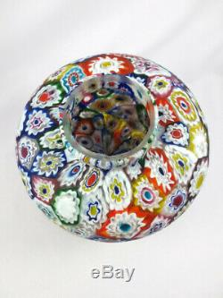 Vintage Fratelli Toso Millefiori Lamp Murano Italian Art Glass Mushroom