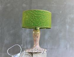 Vintage Glass Murano desk lamp Italian Stunning Table lamp Library lamp Light