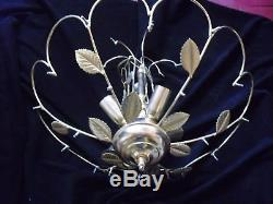 Vintage Gold Italian Murano Venini Art Glass chandelier, Ø 50 cm