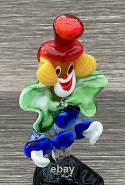 Vintage Hand Blown Murano Glass Clown Collectable