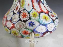 Vintage Italian Fratelli Toso Millefiori Mushroom Murano Glass Lamp 17
