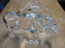 Vintage Italian Murano Art Glass Bull Signed Licio Zanetti 13 Sculpture HUGE