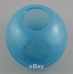 Vintage Italian Murano Art Glass Mezza Filigrana Free Form Vase Bowl Martens